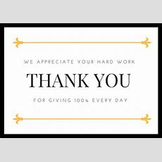 Employee Appreciation Thank You Notes  Thank You Note Wording