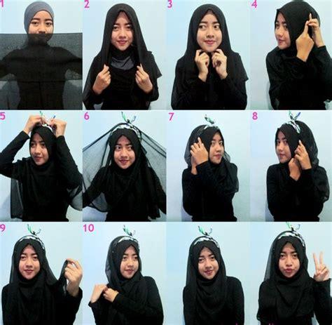 tutorial hijab segi empat casual