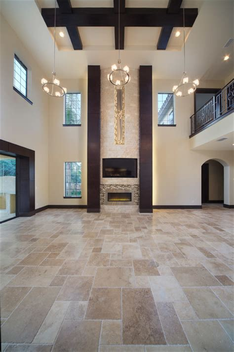 modern mediterranean home contemporary living room