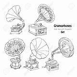 Record Player Drawing Gramophone Getdrawings Drawn Sketches sketch template