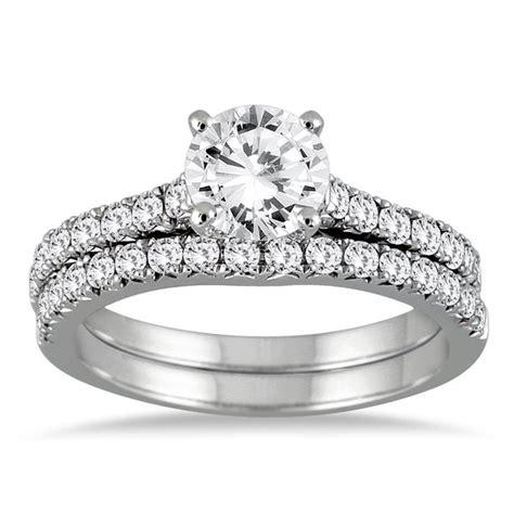 shop  white gold  ct tdw  diamond bridal set
