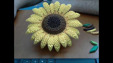 origami flower tutorial sunflower part youtube