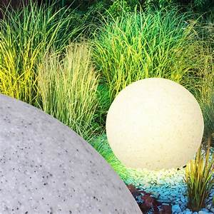 Stein Deko Garten : design leuchte kugel steck lampe garten deko beleuchtung ~ Whattoseeinmadrid.com Haus und Dekorationen