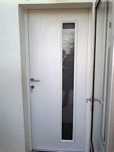 Porte D Intérieur Sur Mesure : pose d 39 une porte d 39 entr e blanche en pvc echebrune ~ Dailycaller-alerts.com Idées de Décoration