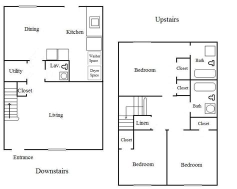 3 Bedroom 2 Bath Floor Plans Marceladickcom
