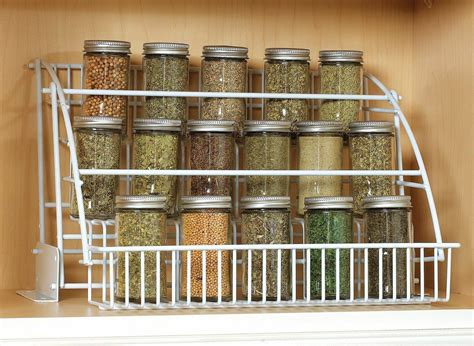 Spice Storage For Cupboards by Rubbermaid Pull Spice Rack Organizer Shelf Cabinet