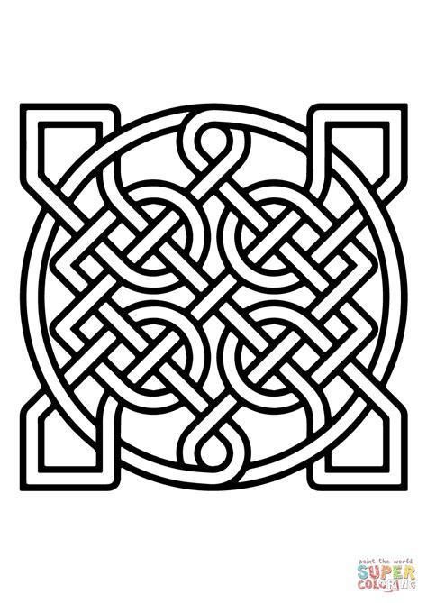 Celtic Ornamental Knot Insquare coloring page   Free ...