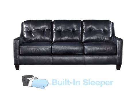 leather sleeper sofa queen navin leather queen sleeper sofa at gardner white