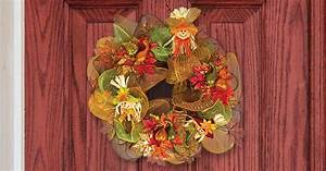 Harvest Deco Mesh Wreath for Under $15 The Dollar Tree Blog