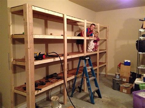 shelves for garage how to build sturdy garage shelves 171 home improvement