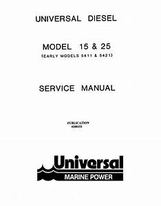 Universal Diesel M 25 Technical Manual