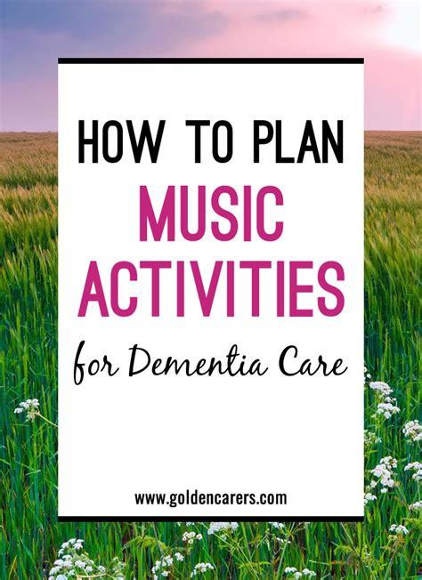plan  activities  dementia care