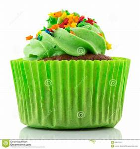 Green Party Cupcake Stock Photos - Image: 26917123