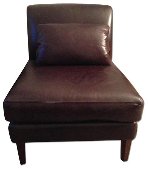 pottery barn leather slipper chair armchairs and accent chairs