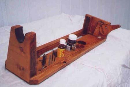 wooden gun rest plans tom
