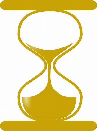 Hourglass Clipart Golden Animated Clip Gold Cliparts