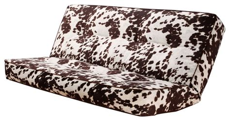 Western Futon by Udder Madness Cowhide Print Size Futon Cover