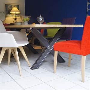 Table En Metal : table m tal pied ipn fabrication fran aise villa m lodie ~ Teatrodelosmanantiales.com Idées de Décoration
