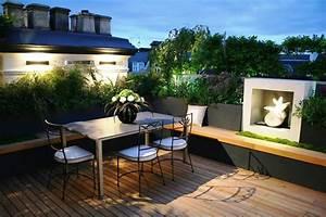 Terrassen Deko Modern : id es pour l 39 am nagement de sa terrasse 2 astuces retenir ~ Bigdaddyawards.com Haus und Dekorationen