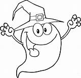 Coloring Ghost Pages Witch Printable Funny sketch template