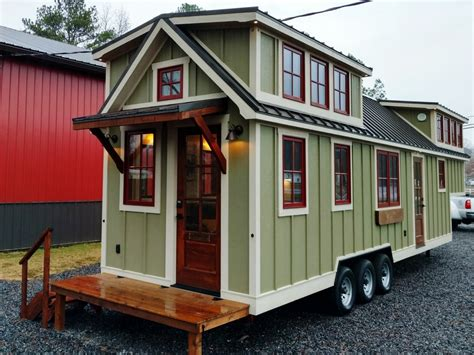 tine house tiny house town luxury farmhouse by timbercraft tiny homes 352 sq ft