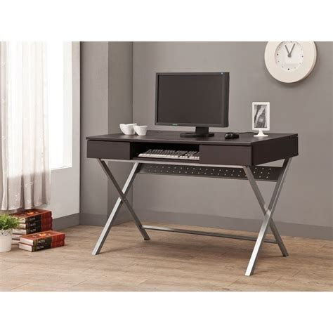 built in desk outlets coaster desk with built in outlet in cappuccino 800117