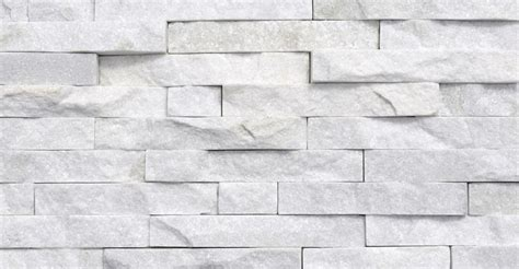 white stacked white quartzite split face mosaic tile stone wall stone cladding by rock panels www