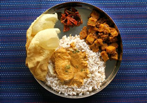 mangalorean plated meal series boshi  fish curry