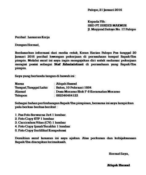 Contoh Surat Ban Pt by 10 Contoh Surat Lamaran Pekerjaan Yang Baik Dan Benar