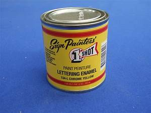 one shot lettering enamel paint 236ml chrome yellow With one shot lettering enamel paint