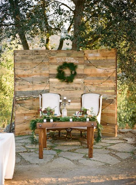 Rustic Sweetheart Table Backdrop Wedding And Party Ideas