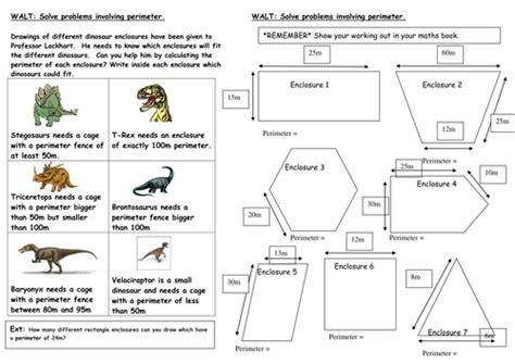 dinosaur perimeter investigation by mrspomme teaching