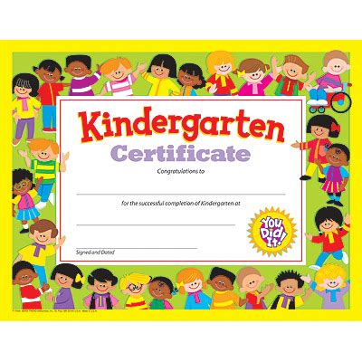 trend enterprises certificate templates t 11301 kindergarten certificate pk k certificates diplomas