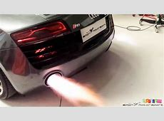 Audi R8 V10 Plus IPE F1 exhaust sound & flames at