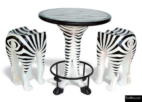 Zebra Bar Stools Zebra Bar Table And Stools The 4