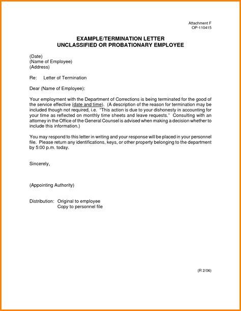 sample employment termination letter cover letter