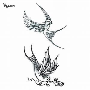 Dessin D Hirondelle Pour Tatouage : hirondelle symbole laplusbellehistoiredetouslestemps ~ Melissatoandfro.com Idées de Décoration