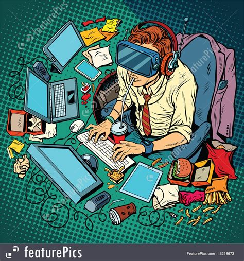 tech geek stock illustration   featurepics