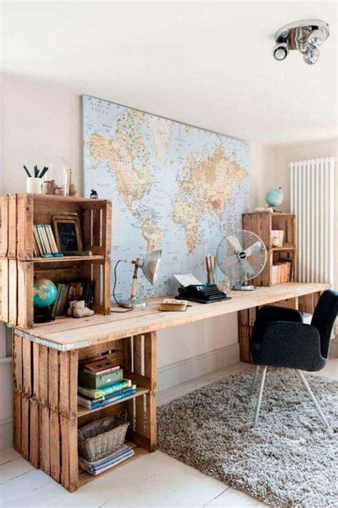 bureau recup meuble en palette 34 idées fraîches de diy déco naturelle