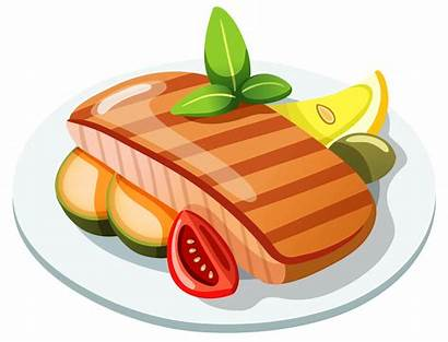 Clipart Fish Dishes Roast Transparent Meat Cow