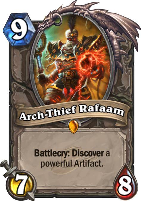 arch thief rafaam hearthstone card