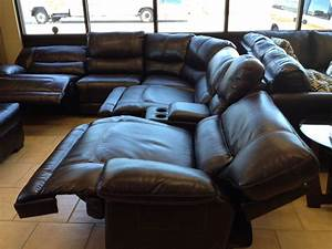 Sectional sofa most comfortable sectional sofas with for Sectional sofas with 4 recliners