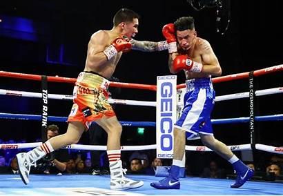 Valdez Lopez Oscar Fight Knockdown Overcomes Stop