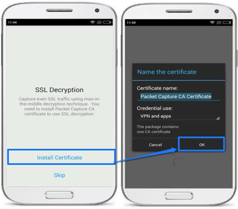 android certificate installer android packet sniffer wifi