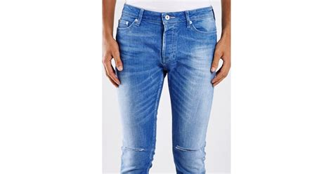 light wash skinny jeans mens topman light wash ripped cropped stretch skinny jeans in