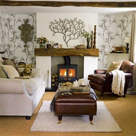Country Living Room Ideas With Fireplace by 8 Ways To Create A Warm And Snuggly Living Room Kwd