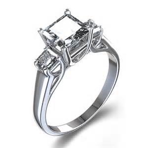 palladium engagement rings trellis set princess cut three engagement ring in palladium australia