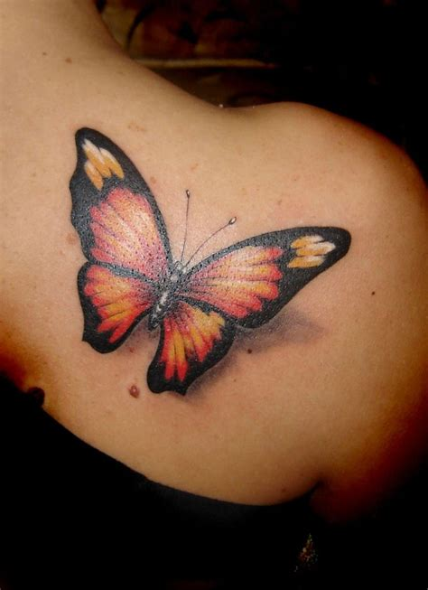 grey  white  black butterfly tattoo images