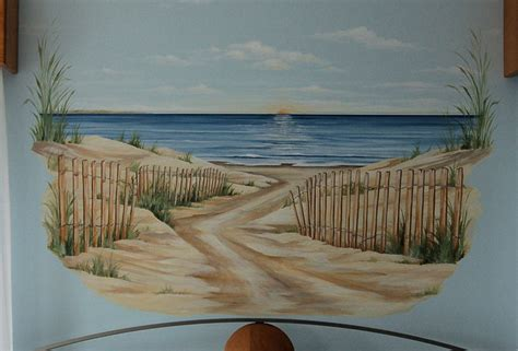 Kitchen Rehab Ideas - beach mural boston by macmurraydesigns