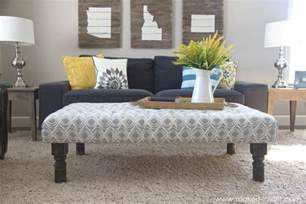 Make An Ottoman From A Coffee Table by Diy Tufted Fabric Ottoman From An Table Make
